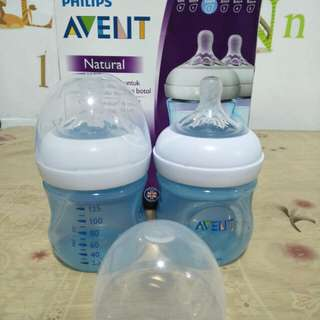 Avent feeding bottle ' blue '