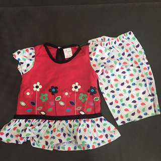 Baby Girl Floral Set Wear 224-0005