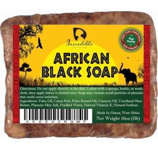 1 INSTOCK // PREORDER Incredible by Nature Raw & Organic African Black Soap