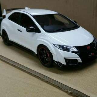 1/18 Honda Civic Type R WHITE LIMITED 500PCS