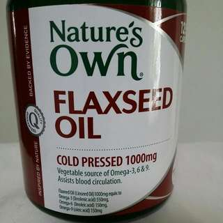 Nature's Own Flexseed Oil 125 Caps