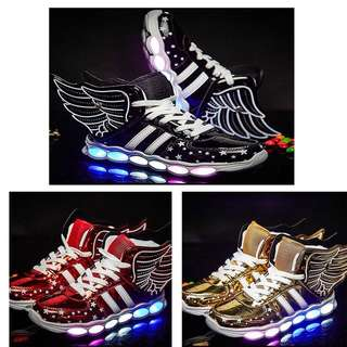👟Kids Boy Girls LED Light Up USB Sport Sneakers Casual Dance Show Shoes👟