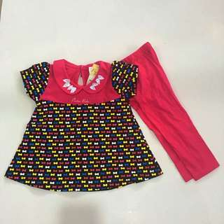 224-0001 Baby Girl Cute Set Wear