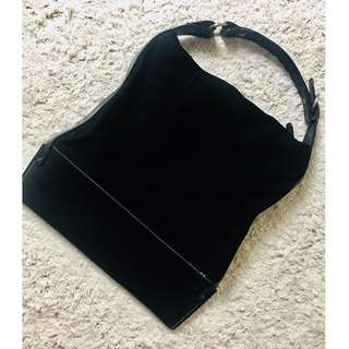 Vintage Leather/Cloth Tote