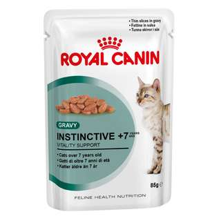 Royal Canin Pouch Instinctive 7+ In Gravy Cat Food 85g, 12 pouch