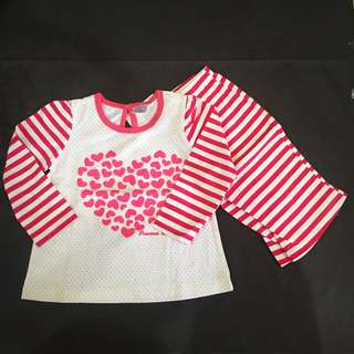 226-0001 Girl Cute Pyjama Set