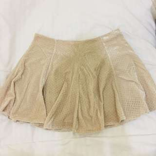 Yellowfin Velvet Flare Skirt