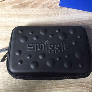 Smiggle Plain black Pencil Case