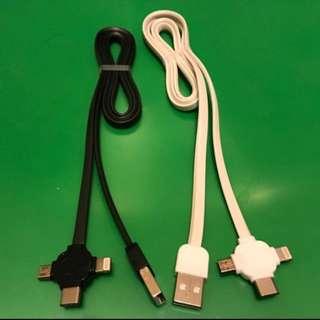 高速 任何手機 充電線(Type c/Iphone/micro usb all 👍)