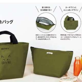 🚚 日本雜誌包~軍綠色,手提包,保冷袋