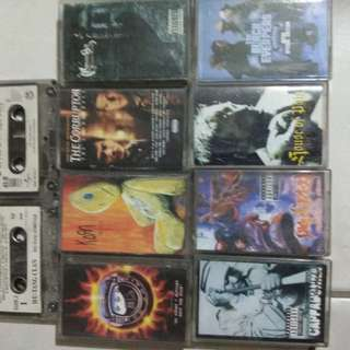 Rock and hiphop cassette tapes