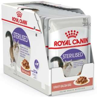 Royal Canin Pouch Sterilised In Gravy Cat Food 85g, 12 pouch