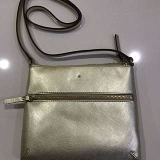 Kate Spade New York Tenley Crackled Metallic Crossbody Bag