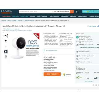 Rare!!! Brand New / Retail $600+ / Nest Cam IQ Indoor Security Camera Works with Amazon Alexa / Smart Home / Home Security