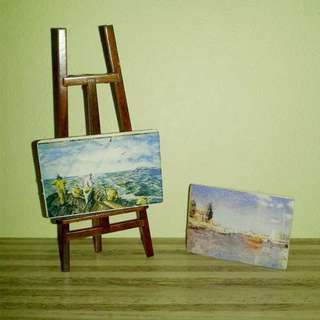 Mini Paintings & Easel Set