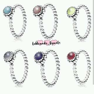 AUTHENTIC PANDORA BIRTHSTONE RINGS