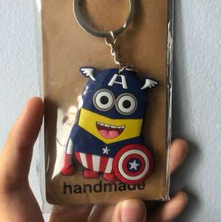 Captain America Minion Keychain
