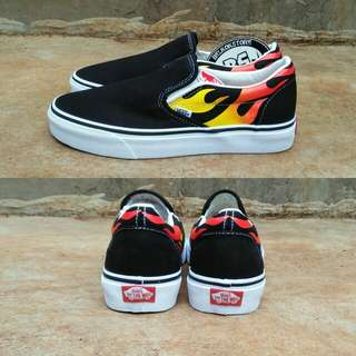 Vans slipon flame