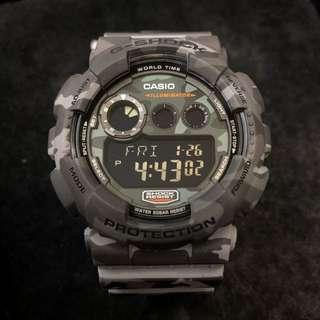 Casio G-Shock GD-120CM-8 GD120CM-8 gd-120cm-8 gd-120 灰色 迷彩 gshock