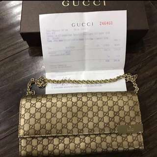 [REDUCED]💯  MICROGUCCISSIMA CHAIN WALLET