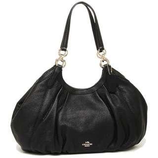 Coach F12155 黑色半月皮包
