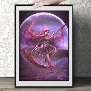 Rwby- Ruby / Weiss art print