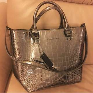 Armani 2-way Metallic Handbag/ Cross Body Bag