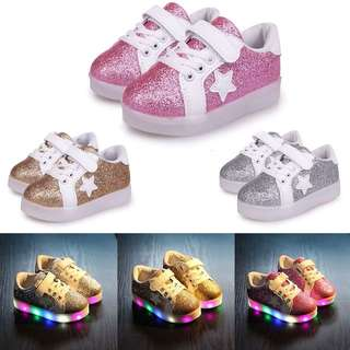 👟CHILDREN KIDS LED LIGHT UP LUMINOUS SHOES GIRLS CASUAL SNEAKERS👟