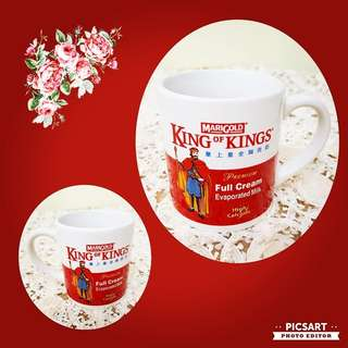 Collectable MARIGOLD King of Kings Evaporated Milk Porcelain Milk. Unused, Mint Condition. $10 offer! Sms 96337309 for Fast Deal !