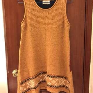 日本啡黃色背心冷裙