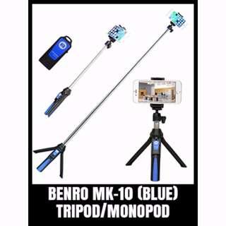 Monopod / Tripod Extended Benro MK-10 Blue