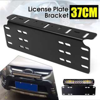 Car license plate holder for spot/fog light
