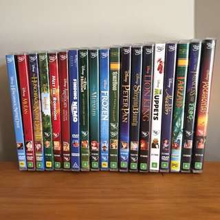 $5 Disney & kids DvDs