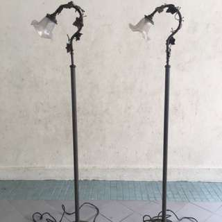 Antique Art Nouveau French Bronze Standing Lamp