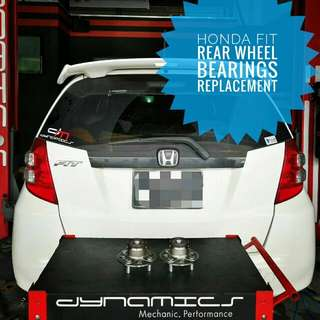 Honda Fit/Jazz : Rear Wheel Bearings Replacement:-
