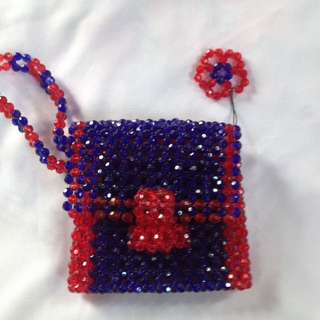 Wallet made all by beads