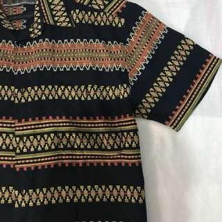 Oversized Vintage Aztec pattern Buttoned down shirt