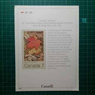 [均一價$10]1982 加拿大參與德國郵展 介紹卡