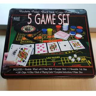 Casino-5in1-Game Set (Great for CNY!)