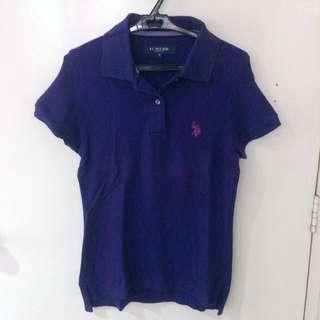 US Polo Association violet polo