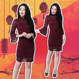 Lihua Lace Dress Cny