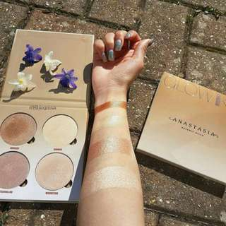 Swatched Anastasia Sun Dipped Glow Kit