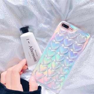 韓風立體心心手機殻 iphone 6/7 6s/7s 6plus/7plus