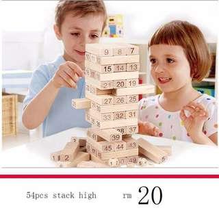 stack high 54 pcs desktop game