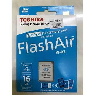 Toshiba Flash Air Wireless SD Card (W-03) Class 10
