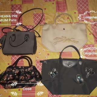 SALE: Preloved Authentic Bags (longchamp, Theana Premium and Cose)