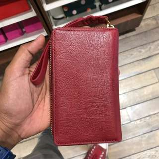 Fossil Wallet Small (Maroon)