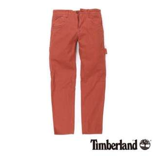🚚 TIMBERLAND 男 鐵鏽紅 貼袋工作休閒長褲 尺寸34