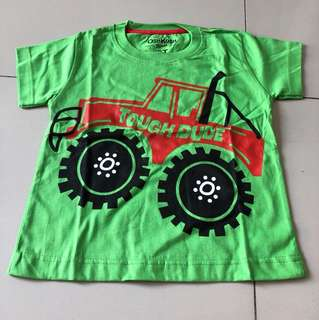 Kaos anak green truck
