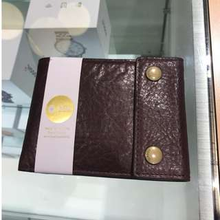Fossil Wallet - Button (Brown)